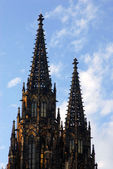Gothic church towers — Stock Photo