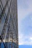 Blaue Wolkenkratzer-detail — Stockfoto
