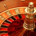 Rolling casino roulette — Stock Photo