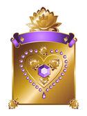 Golden Valentine background — Stock Photo