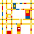 Mondrian grid inspiration — Stock vektor