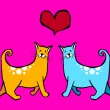 Royalty-Free Stock Vector Image: Cats Valentines