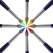 Royalty-Free Stock Imagen vectorial: Circle of Paint brushes with colors