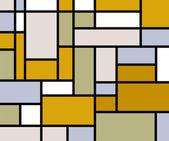 Mondriaan gaat retro afdrukken — Stockvector
