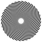 Optical art series: Sphere — Stock Vector