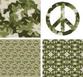 Kamufle barış yama — Stok Vektör