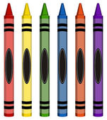 Colorful Large Crayons — Stock Vector