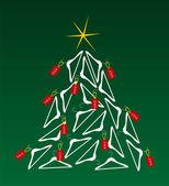 Sales Christmas Tree — Stock Vector