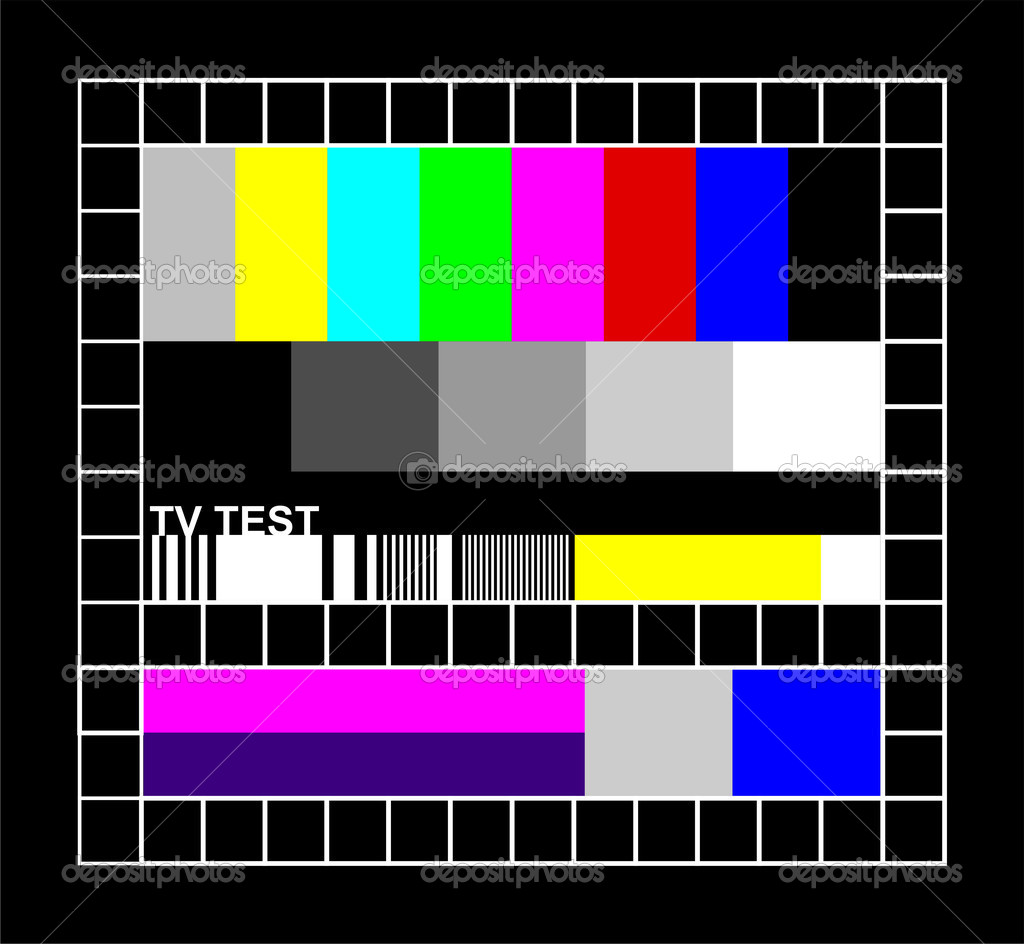 Television colored graphic signal. Test signal at the introduction and the end of the TV programming. — Stock Vector #2120374