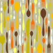 Royalty-Free Stock Vector Image: Cutlery pattern