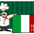 Chef of italian cuisine — Stock Vector #2134019