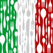 Italian Cuisine: Cutlery pattern - Stock Vector