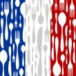French Cuisine: cutlery pattern — Stock Vector