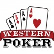 Four aces on white. Poker icon — Stock Vector