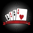Four Aces. Poker icon — Stock Vector
