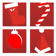 Royalty-Free Stock Vectorielle: CHRISTMAS ICONS