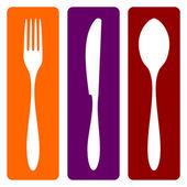 çatal, bıçak ve kaşık — Stok Vektör
