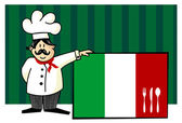 Chef of italian cuisine — Stock Vector