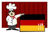 Chef of german cuisine — Stock Vector