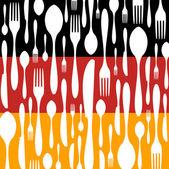 Cozinha alemã: padrão de talheres. — Vetor de Stock