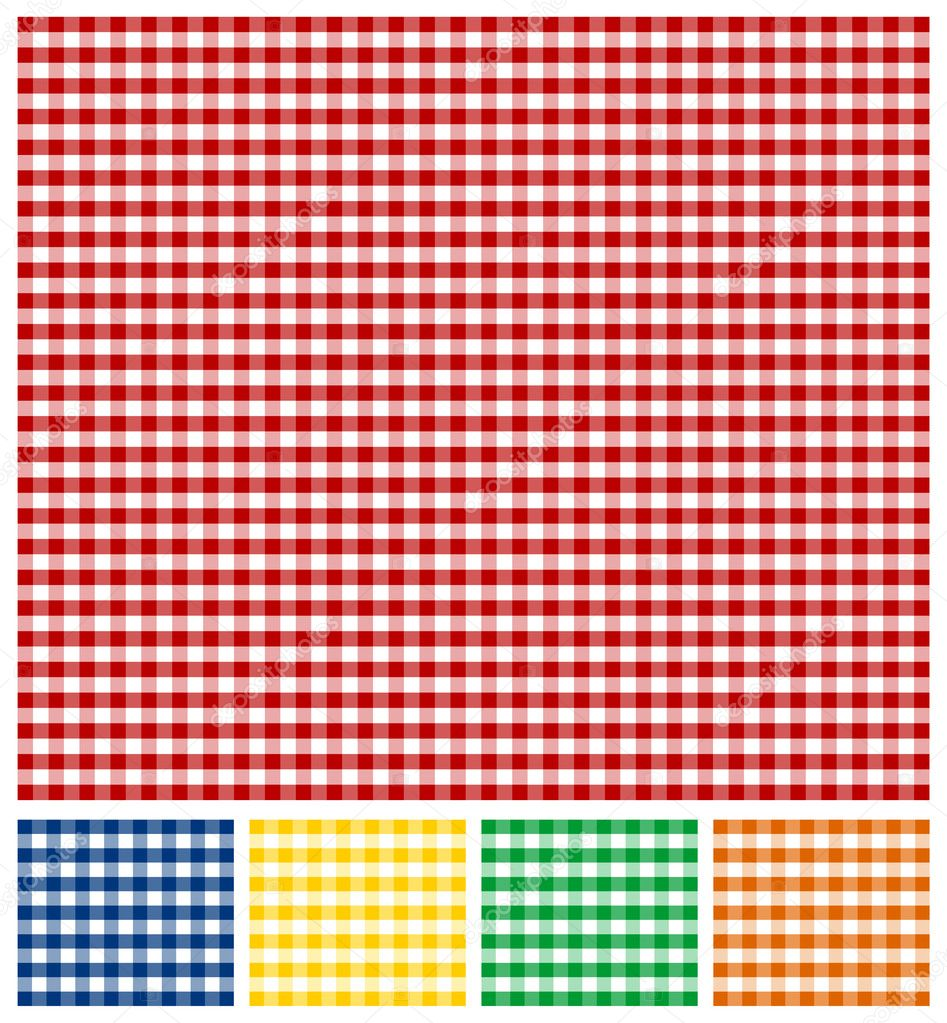 Red checkered background clipart clipground - Picnic Tablecloth