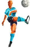 Acuarela pintada futbolista — Foto de Stock