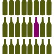 Wine bottles set — Stock Vector