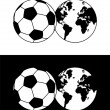 Globe and soccer ball composition — Stock Vector #2144201