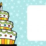 Birthday cake card — Stock Vector #2145060