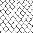 Chainlink fence. - Stock Vector