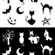 Halloween silhouettes - Stockvectorbeeld