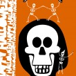 Royalty-Free Stock Vector Image: Halloween greetings. Skulll Background