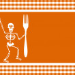 Royalty-Free Stock Vector Image: Halloween Skeleton Background