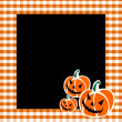 Halloween Pumpkin Faces Background — Stock Vector