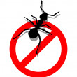 Forbidden to enter ants - Stock Vector