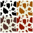 Cow print pattern - Imagen vectorial