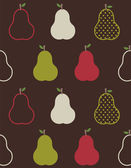 Retro colorful pears pattern — Stock Vector