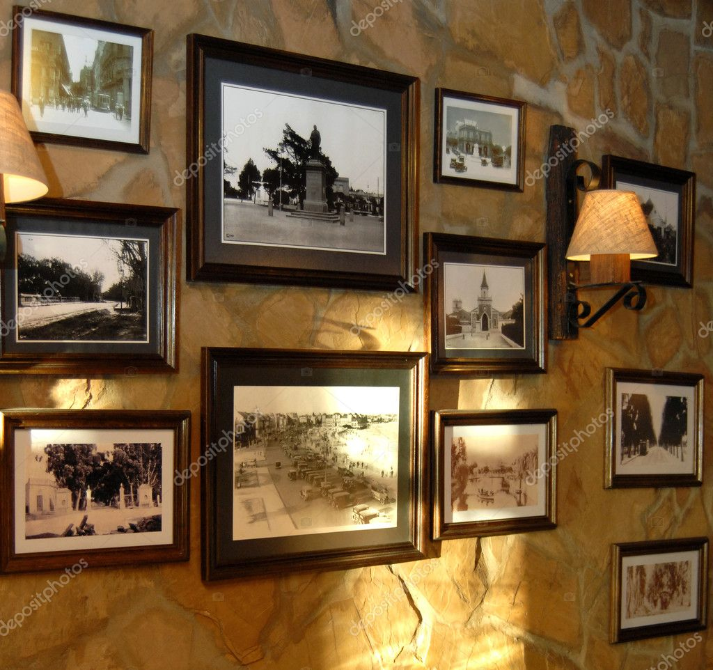 Pictures hanging on a wall stock photo cienpies 2421777 - Hanging pictures on walls ...