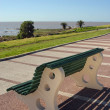 Bench facing beach — Stock Photo #2477880