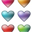 HEARTS ICON SET — Stock Vector #2482966