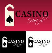 Hotel casino logo — Stock Vector