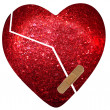 Red heart - healing — Stock Photo