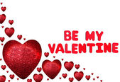 Red heart - be my valentine — Stock Photo