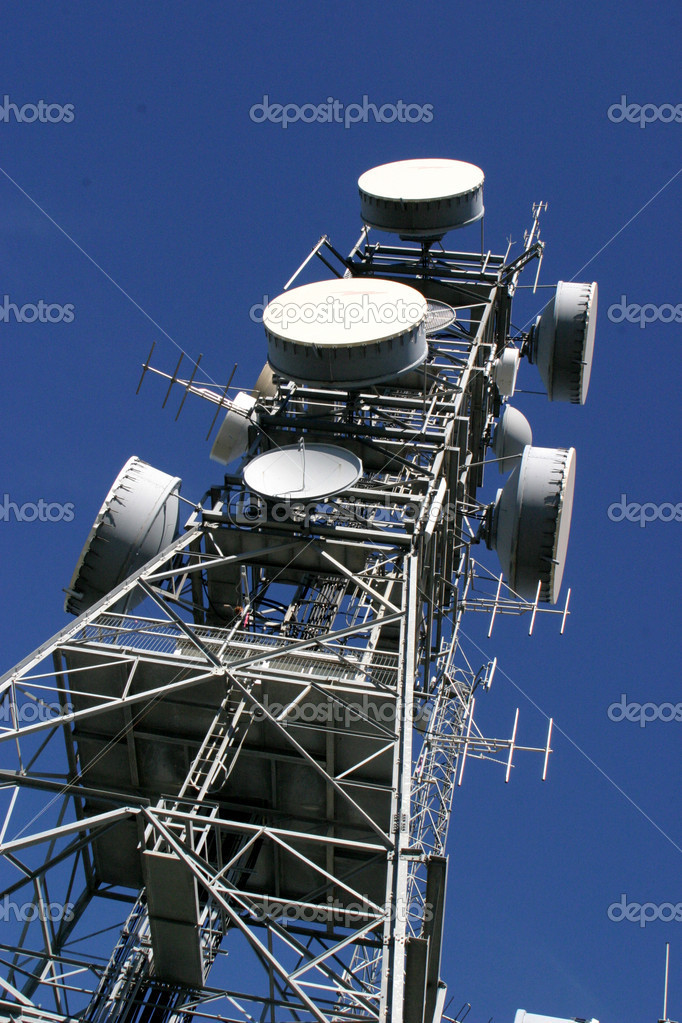 Antenna tower with blue sky  Stock Photo #2065346