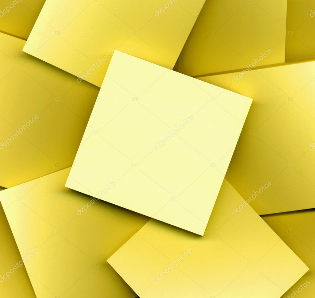 Yellow post it notes  Stock Photo #2222611