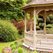 Garden gazebo - Stock Photo