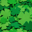 Stock Photo: Green clovers
