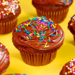 Stock Photo: Chocolate cupcakes