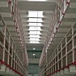 Cell block at Alcatraz — Stock Photo