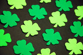 Decorative green clovers — Stock Photo